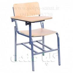 صندلی دانشجویی کف و پشت قوسدار