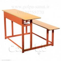 میز و نیمکت دانش آموزی سه نفره ساده