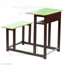 میز و نیمکت یک نفره دبستان رنگی
