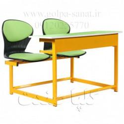 میز و نیمکت دانش آموزی مدل صدفی دو نفره