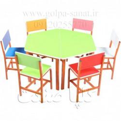 میز و صندلی مهد کودکی کد D-028