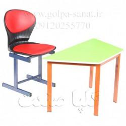 میز ذوزنقه و صندلی صدفی...